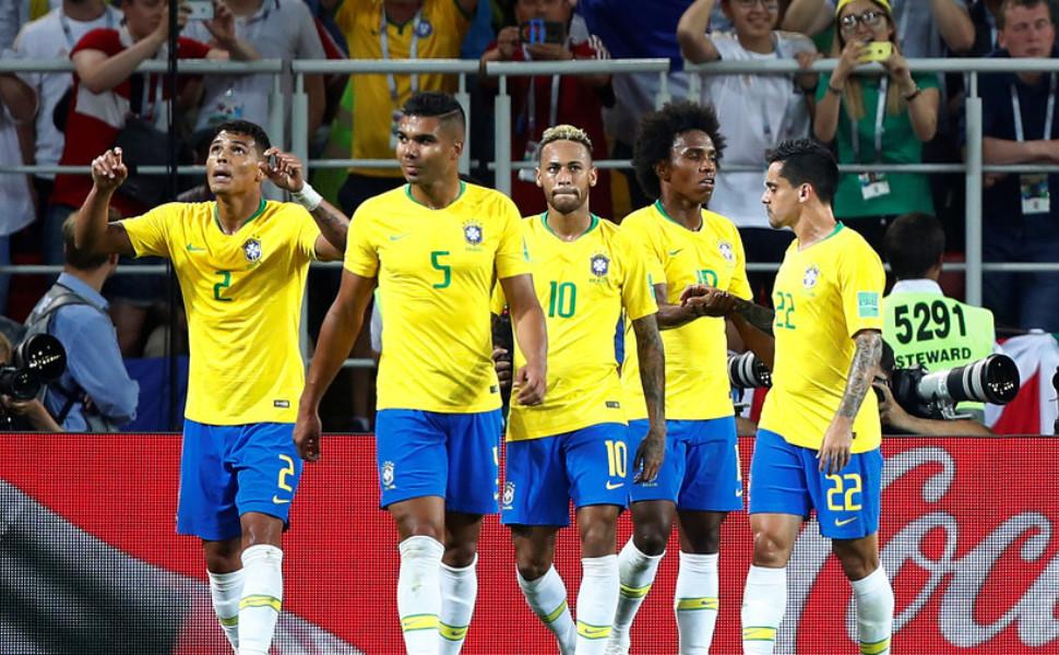 Начался матч Бразилия-Мексика врамкахЧМ