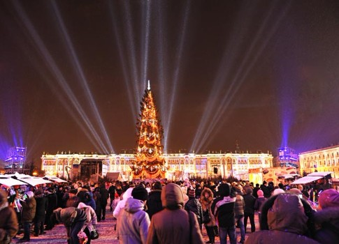 Общегородское празднование Нового года в северной столице