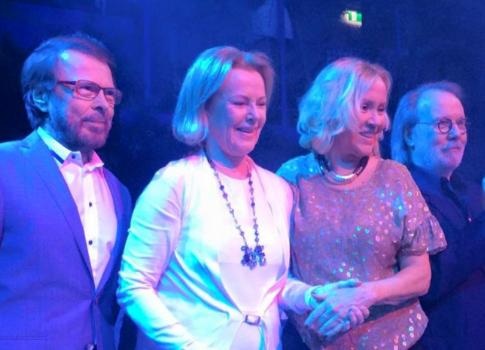В прошлом году ABBA собралась вместе ради концерта в Стокгольме